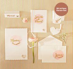 Hochzeitstisch- und -einladungs-Set
