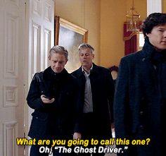 "Sherlock, John and Lestrade. Sherlock S04 E01 ""The Six Thatchers"". Season 4."