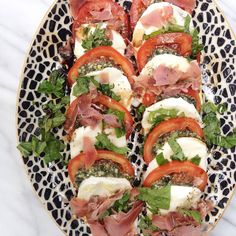 Fancy Caprese Salad + Roasted Chicken with Goat Cheese and Lemon
