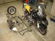 Motorcycle Trailer, Motorcycle Camping, Bobber Motorcycle, Motorcycle Garage, Concept Motorcycles, Cars And Motorcycles, Custom Bikes, Custom Cars, Jeep Garage