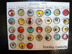 Bottle Cap Calendar