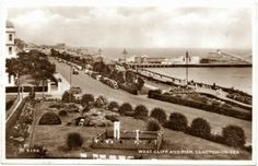 1950s Postcard of West Cliff And Pier Clacton-on-Sea, Essex, England