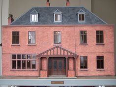 Brick colored basic design miniature creation, perfect for the New England town