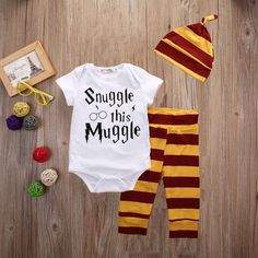 260447c55a5d 2017 Newborn baby boy girls clothing sets Infant Toddle girls Romper Pants  Hat Snuggle on this muggle baby outfit set