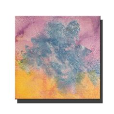 """Small abstract painting, Modern art, Purples, yellows, blues, acrylic painting, 4""""x4"""" mini art, small canvas, decor, small art by PamCarrArtist on Etsy"""