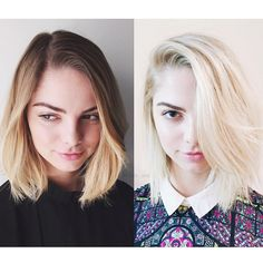 Hair by Kristin Ess - want that light blonde!