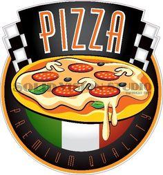 "7"" Pizza Concession Trailer Fast Food Truck Restaurant Bar Vinyl Sign Decal  #SolidVisionStudio"