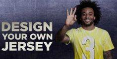 Marcelo reta a los fans a crear la 3ª camiseta del Real Madrid 17-18