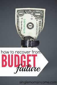 Feeling like budget failure this month? Stop beating yourself up and get back on track, here's what to do. - If you've had a budget failure, don't give up!