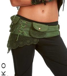 Steampunk utility belt - ASSORTED COLOURS - junk Gypsy, Pocket BELT, hip pack, waist pack, fanny pack, festival clothing, Ccbeol
