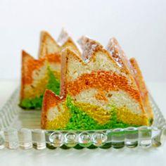 rainbow cream cheese pound cake.