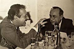 Leonardo Sciascia (right) with judge Paolo Borsellino Celine, Writers And Poets, Mafia, Fictional Characters, Cambridge, Respect, Portraits, Culture, News
