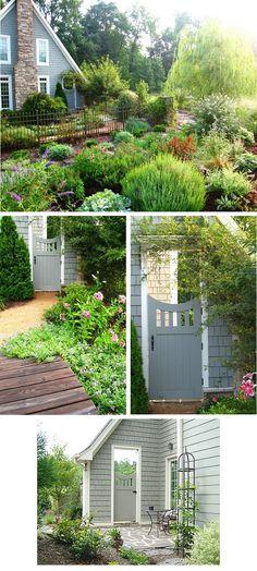 Pretty gate and garden