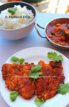 Rava Fish Fry / Meen Varuval - Chettinad Recipes