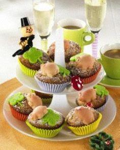 Leckere Glücks-Muffins für Silvester.