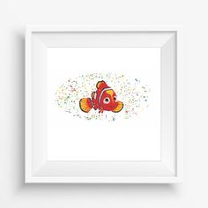 Nemo,Finding Nemo,Disney, digital watercolor, for children, Kids Room Decor,Nursery Decor,Baby Gift,Instant Download,300dpi,high resolution