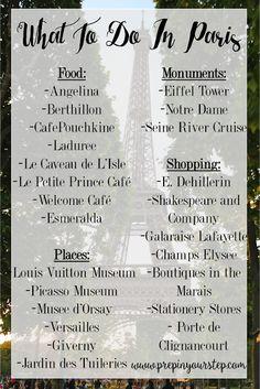 Paris Favorites : What to do in Paris