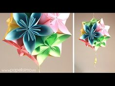 This technique is a variant of Origami which means medicinal sphere. Origami And Kirigami, Origami Paper, Watch Diy, Diy And Crafts, Paper Crafts, Egg Carton Crafts, Paper Light, Paper Fans, Paper Packaging