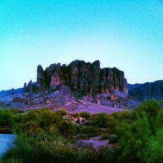 Superstition Mountains - This beautiful mnt is just outside. I grew up looking at these.
