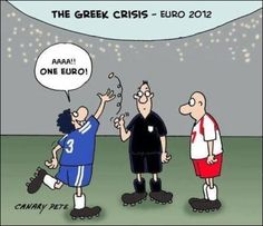 Greece solves its financial crisis in the European Champions League.Too funny Multimedia, Euro 2012, Just For Fun, Best Funny Pictures, Haha, Family Guy, Humor, Reading, Memes