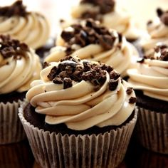 Chocolate Espresso Cupcakes with Kahlua Cream Cheese Frosting