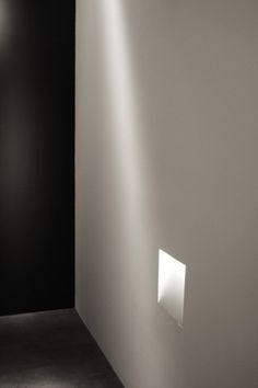 Beautiful lighting detail integrated inside the wall _