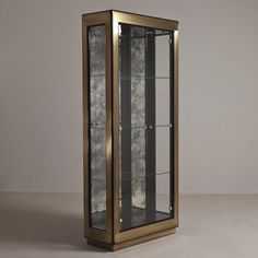 A Large Mastercraft Three Part Brass Display Cabinet 1980s | From ...