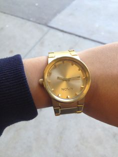 Nixon watch in gold