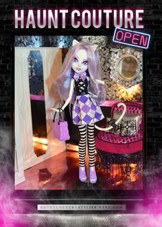Monster Doll Scaris Life high fashion dress by HauntCoutureAtelier