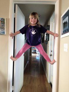 Purple shirt + pink spandex + climbing walls?  SUPER Sambazonian in the making!