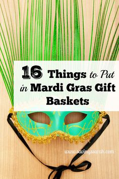 """Mardi Gras celebrations are colorful, fun, and memorable. Brighten up someone's day with these 16 Things to Put in Mardi Gras Gift Baskets. You have them saying """"Let The Good Times Roll"""". (Valentins Day Sayings Care Packages) Gift Baskets For Men, Themed Gift Baskets, Raffle Baskets, Mardi Gras Facts, Madi Gras, Mardi Gras Carnival, Gifts For Teen Boys, Speech Therapy Activities, Play Therapy"""