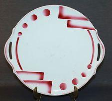 Art Deco Tortenplatte Kuchenplatte Tortenteller super Spritzdekor Sarreguemines