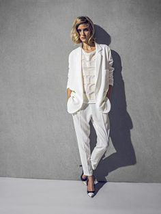 #Seventy loves Total White #SS2014 #womancollection #fashion #style #ootd #white #jacket #pants #shirt