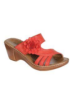 Red Flower Sandal