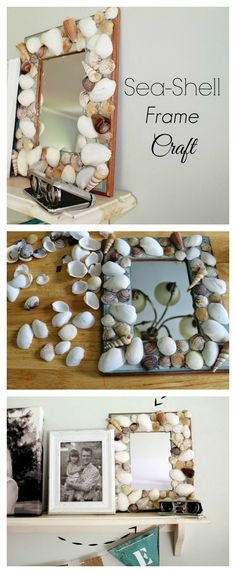 DIY Seashell Frame Craft - such an easy project and a perfect way to preserve those precious beach memories to last a lifetime!