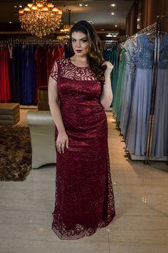 Vestido Longo Vermelho - Saia Justa Moda Festa - Vestidos e Acessórios - Curitiba