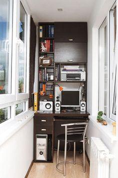 фото рабочего места на балконе