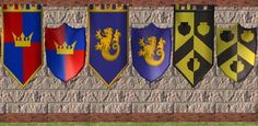 Medieval Banners and Shields