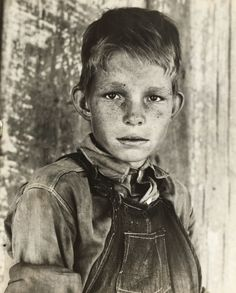 "Sharecropper's son – 1937.    ""Twelve year old son of a cotton sharecropper near Cleveland, Mississippi,"" – Dorothea Lange, photographer, June 1937. -- www.zazzle.com/exit78*"