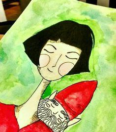 A amelie de sábado  #ilustracion #ameliepoulain #watercolor  #draw