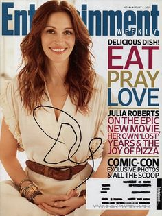 Rare Julia Roberts Autograph Hand Signed Entertainment Weekly Magazine