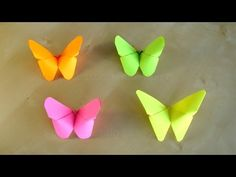 getlinkyoutube.com-Basteln: Origami Schmetterling falten mit Papier. Bastelideen: DIY Ostern / Geschenkideen / Deko