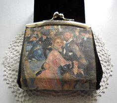ITALY Vintage Coin Purse RENOIR Dance at LeMollen by JoolsForYou