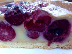 CLAFOUTIS DE CEREZAS. TARTA DE CEREZAS FRANCESA - MY EUROPEAN CAKES Cheesecake, Ice Cream, Chocolate, Desserts, Food, Image, Bella, Vestidos, Health Desserts