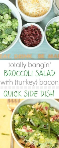 This has been our go-to side dish all summer!  this link has a great tip to prep a couple of portions of bacon to freeze ahead of time, so smart.  After that salad assembly is a snap!