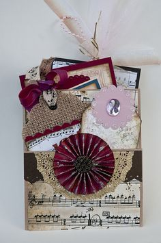 Pocket Tag - Scrapbook.com Neat idea for make and take project.