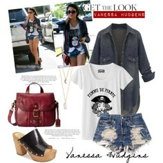 Get the Look:Vanessa Hudgens by chocolate-addicted-angel on Polyvore featuring polyvore fashion style Levi's MICHAEL Michael Kors Frye With Love From CA LOVA
