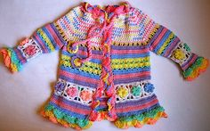 Little girl's colorful summer coat ~ free pattern ᛡ