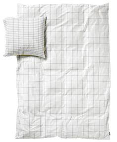 Parure de lit S&B Minimal 2 personnes / 220 x 240 cm Citron (Tons jaune et turquoise) - Hay - Décoration et mobilier design avec Made in Design