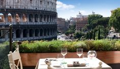Hotel Palazzo Manfredi: Take advantage of the terrace for a rooftop breakfast and view of the ancient amphitheater. #JSEames